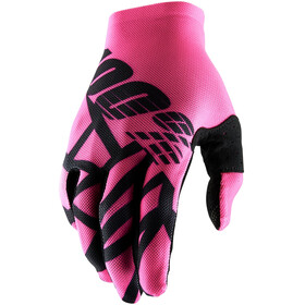 100% Celium 2 Gloves Neon Pink/Black